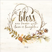 Bless Our Home Fall Foliage Fine-Art Print