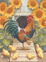 Sunflowers and Chicks Fine-Art Print