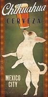 White Chihuahua on Green Fine-Art Print