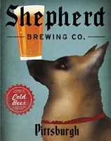 German Shepherd Brewing Co Pittsburgh Black Fine-Art Print