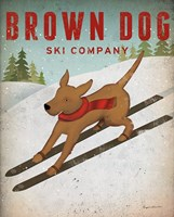 Brown Dog Ski Co Fine-Art Print