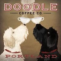 Doodle Coffee Double IV Portland Fine-Art Print