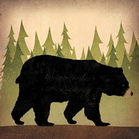 Take a Hike Bear no Words Fine-Art Print