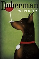 Single Doberman Winery Fine-Art Print