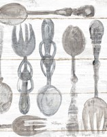 Spoons and Forks III Neutral Fine-Art Print