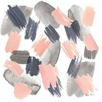 Grey Pink Mist II Framed Print
