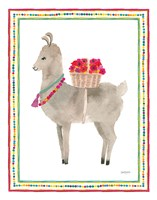 La La Llama II Framed Print