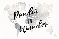 Watercolor Wanderlust Ponder Fine-Art Print