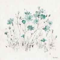 Wildflowers II Turquoise Fine-Art Print