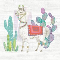 Lovely Llamas V Fine-Art Print