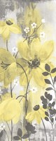 Floral Symphony Yellow Gray Crop II Fine-Art Print
