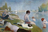 Bathing at Asnieres Fine-Art Print