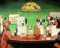 Dogs Playing Poker Fine-Art Print