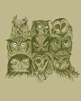 Nine Owls Fine-Art Print