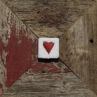 Hearts' Desire Barn - Red Fine-Art Print