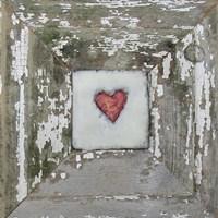 Hearts' Desire Distressed White Fine-Art Print