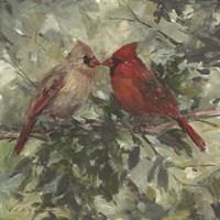 Kissing Cardinals Fine-Art Print