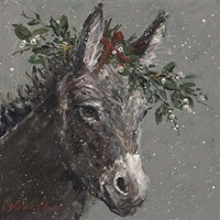 Mary Beth the Christmas Donkey Fine-Art Print