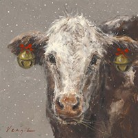 Patty the Brown Christmas Cow Fine-Art Print