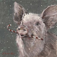 Teri the Christmas Pig Fine-Art Print