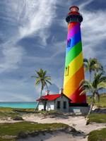 Rainbow Lighthouse South Fine-Art Print