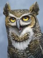 Great Horned Owl Totem Fine-Art Print