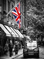 London Taxi and English Flag Fine-Art Print