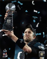 Nick Foles with the Vince Lombardi Trophy Super Bowl LII Fine-Art Print