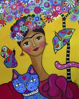 Brigit's Frida And Her Cat Fine-Art Print