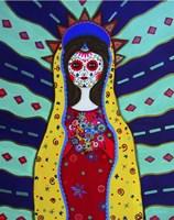 Virgin Guadalupe Dia De Los Muertos Fine-Art Print