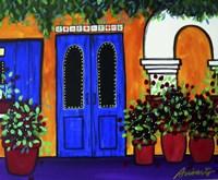 Mexican Blue Door Fine-Art Print