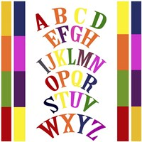 Rainbow Alphabet 2 Fine-Art Print
