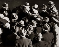 1930s 1940s Elevated View Of Group of Men Fine-Art Print