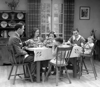1930s Family Of 6 Sitting At The Table Fine-Art Print