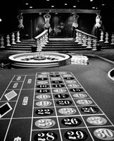 1960s Casino Viewed Of Roulette Table Fine-Art Print