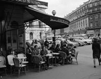 1960s Patrons At Cafe De La Paix Sidewalk Cafe In Paris? Fine-Art Print