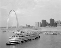 1960s St. Louis Missouri Gateway Arch Skyline Fine-Art Print