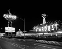 1960s Night Scene Of The Stardust Casino Las Vegas Fine-Art Print