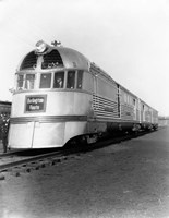 1930s Zephyr Train Engine Cars Fine-Art Print