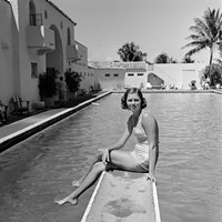 1930s Woman On Pool Diving Board Fine-Art Print