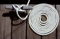 1980s Detail Of Cleat Hitch And Coiled Rope Fine-Art Print