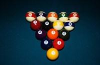 Billiard Balls Racked Up On Pool Table Fine-Art Print
