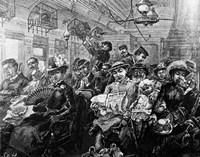 1880S Illustration Crowded Passenger Car Fine-Art Print
