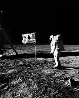 1969 Astronaut Us Flag Fine-Art Print