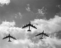 1950s Three B-52 Stratofortress Bomber Airplanes Fine-Art Print