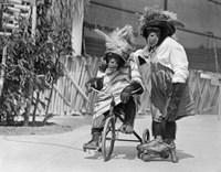 1930s Chimpanzees Wearing Hats? Fine-Art Print
