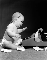 1960s Side View Of Chubby Baby Fine-Art Print