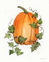 Pumpkin and Vines IV Fine-Art Print