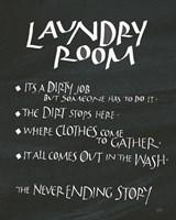 Laundry Room Sayings Fine-Art Print