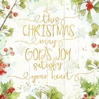 Christmas Sentiments III Gold on Wood Fine-Art Print